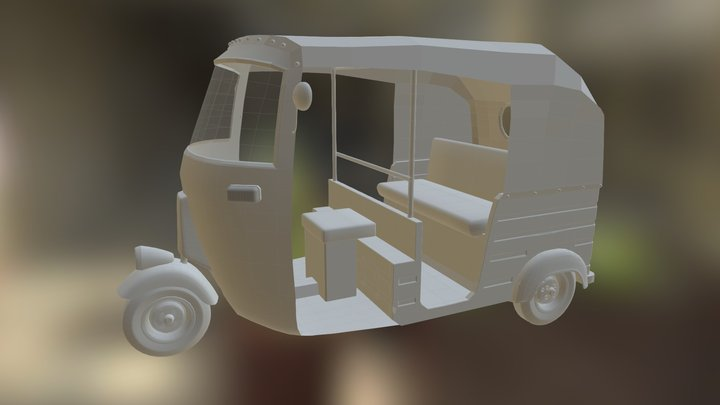 Indian Three Wheeler 3D Model