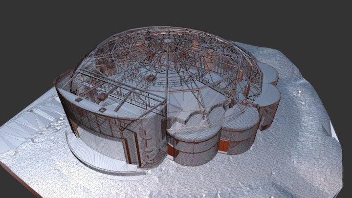 Salle de Château Rouge 3D Model