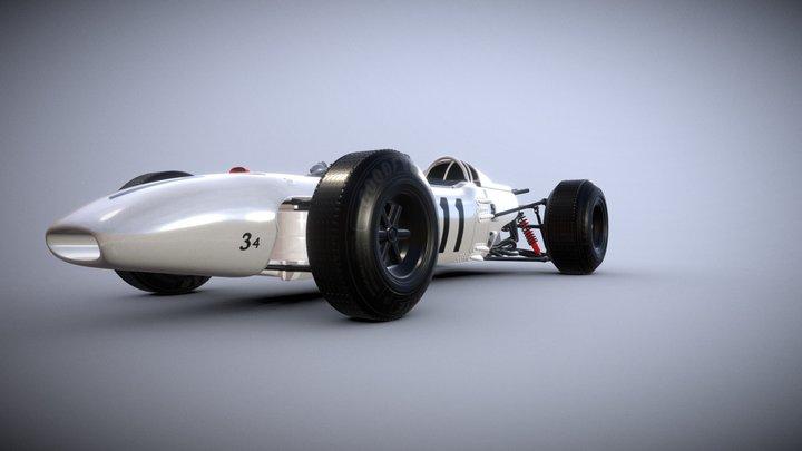 HONDA RA272 Formula 1 Car 1965 3D Model