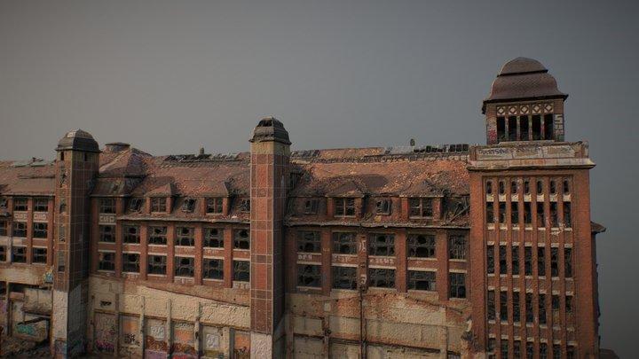 Abandoned Building - Factory Leipzig East 3D Model