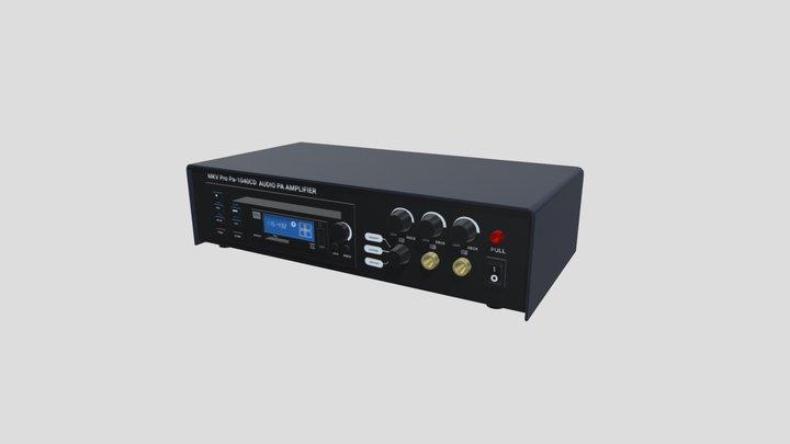 MKV Pro PA-1040CD AUDIO PA AMPLIFIER Lorem Ipsum 3D Model