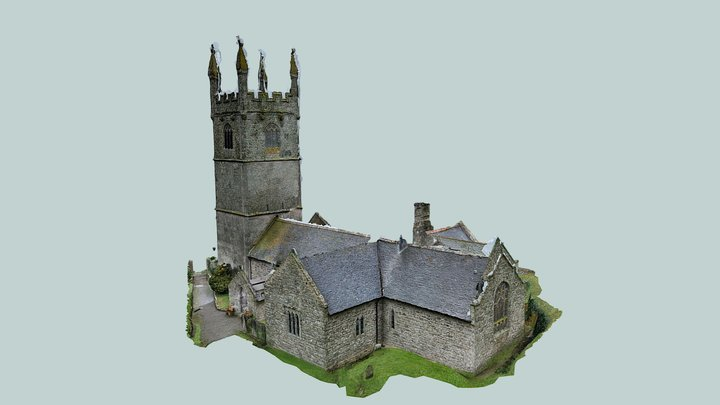 Germoe Church - Exterior 3D Model