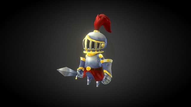 Hand-Painted Knight 3D Model