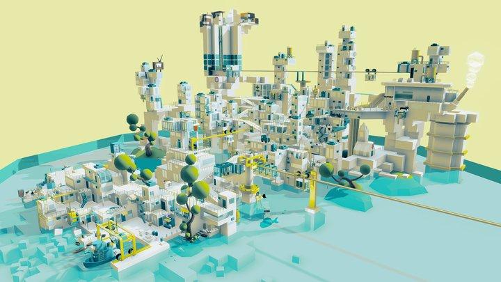 Sandbox city 3D Model