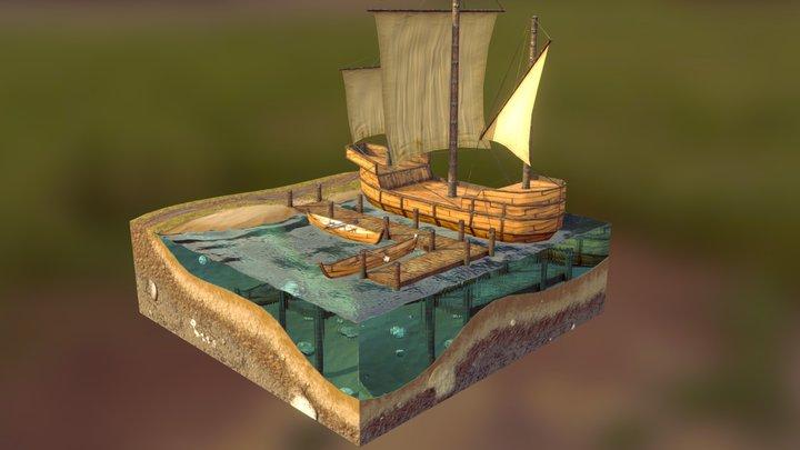 Harbour Diorama 3D Model