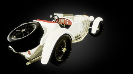 71216 Mercedes Benz SSK 1929 3D Model