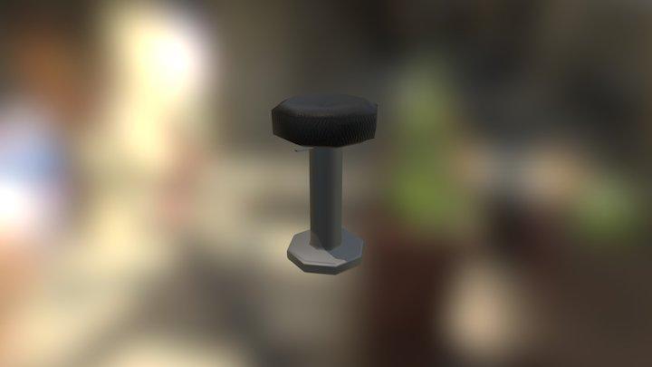 Low Poly Bar Stool 3D Model