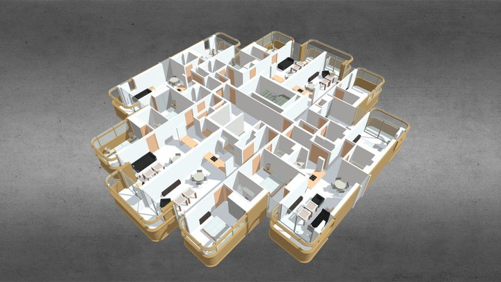 The Compton, Lodge Road, London 3D Model