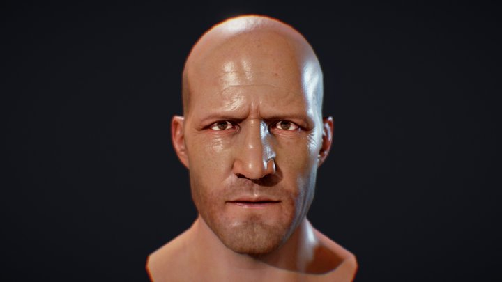 Jason Statham (head only) 3D Model