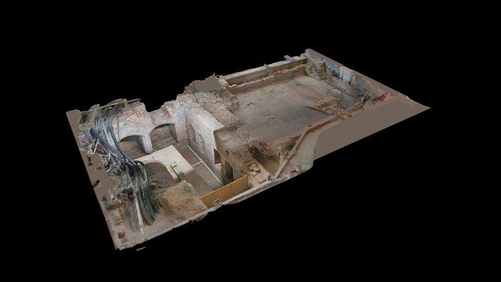Tudor Floor cutaway 3D Model