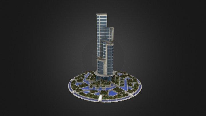 Anno 2205 - Futuristic Skyscraper 3D Model