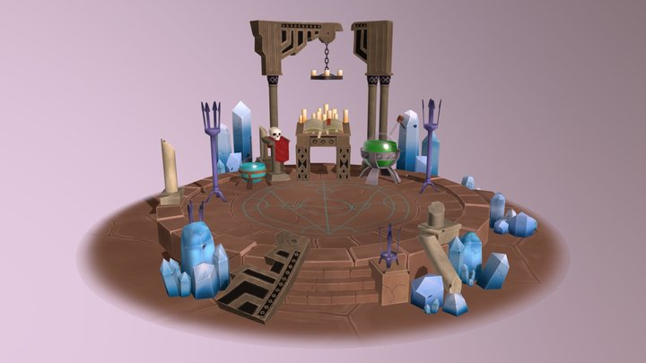 Magic Diorama 3D Model