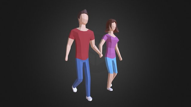 Couple 3D Model