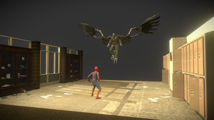 General Mills Spiderman Game - School 3D Model