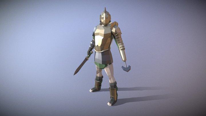 Low-Poly Scissor Gladiator 3D Model