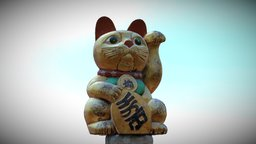 Chinese Cat ( that is actually Japanese ) 3D Model