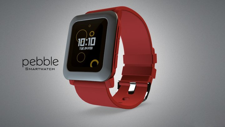 Pebble TIME Smartwatch 3D Model