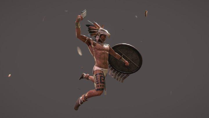Aztec Eagle Warrior v2 3D Model