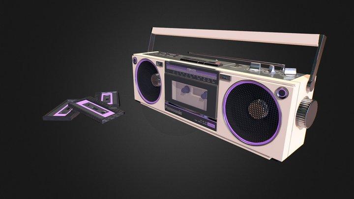Vintage Boombox 3D Model