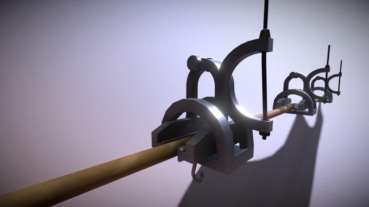 Hand Brake Detail System 3D Model