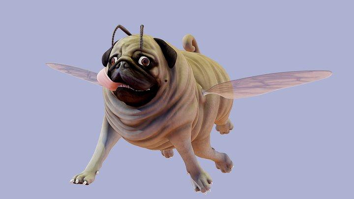 PugBee 3D Model