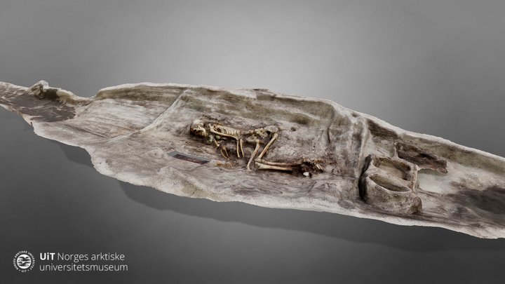 2nd Viking age boat grave in Hillesøy, Norway 3D Model
