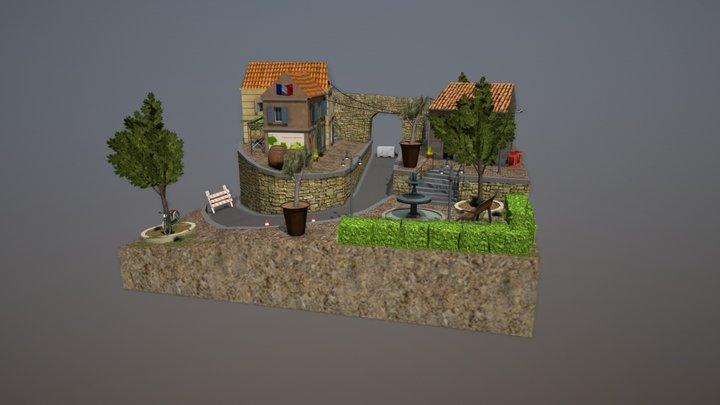 City Scene _ Marseille 3D Model