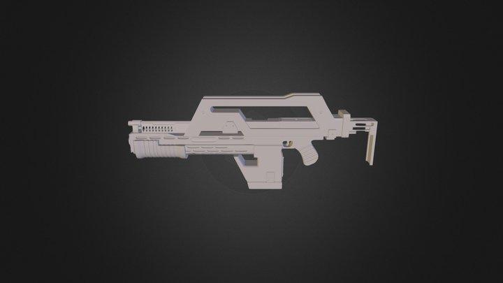 Pulse Rifle 3D Model
