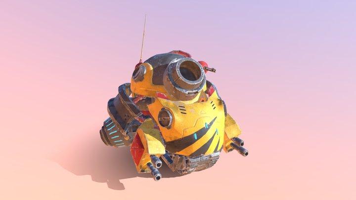 Cannonfrog 3D Model