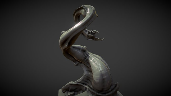 Tentacle: Organic modeling exercise 3D Model