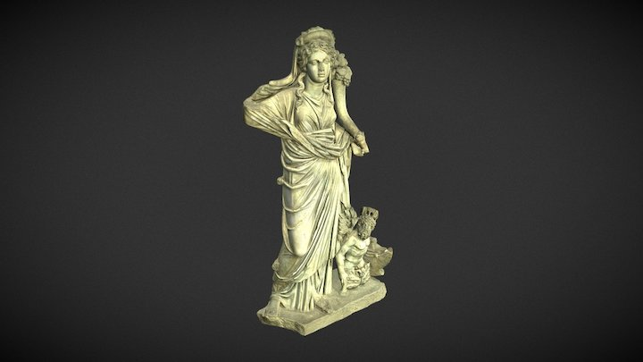 THE SCULPTURE GROUP FORTUNA WITH PONTOS 3D Model