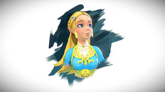 Princess Zelda - Breath of the Wild 3D Model