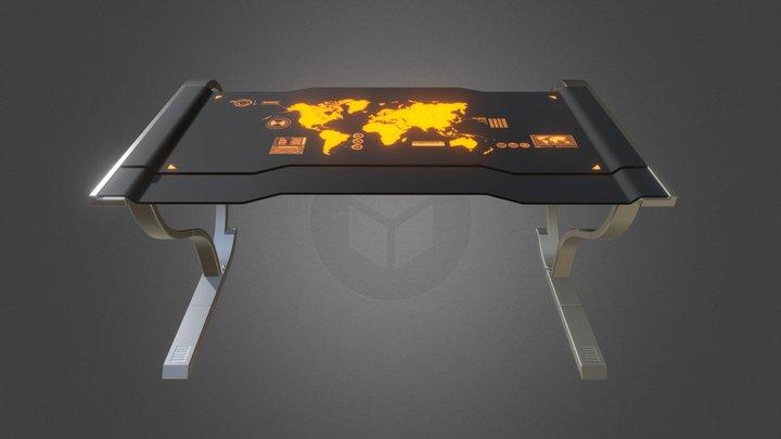 Sci Fi Table 3D Model