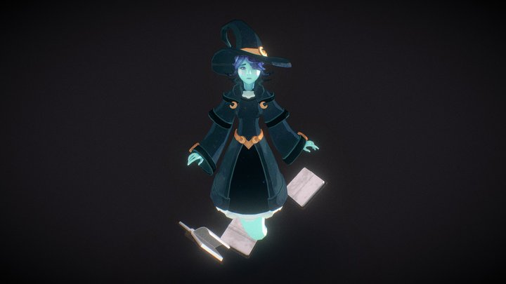 Ghost Witch 3D Model