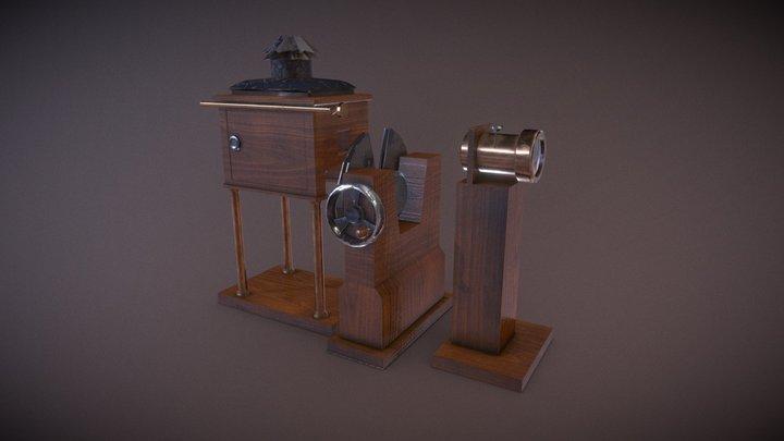 Vintage Victorian Zoopraxiscope. 3D Model