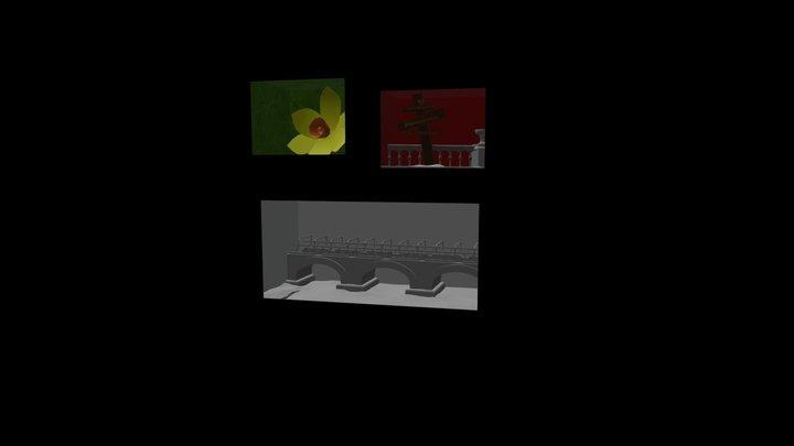 Comic Test 3D Model