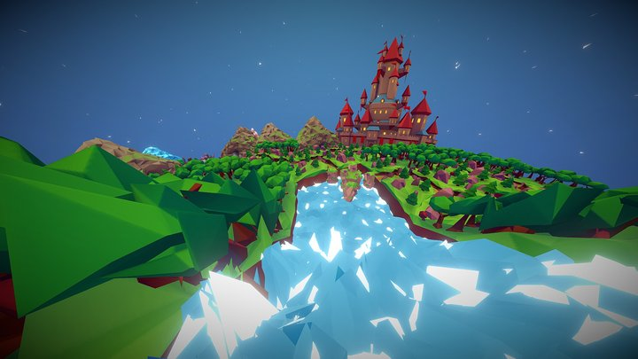 Stylized Fantasy World 3D Model
