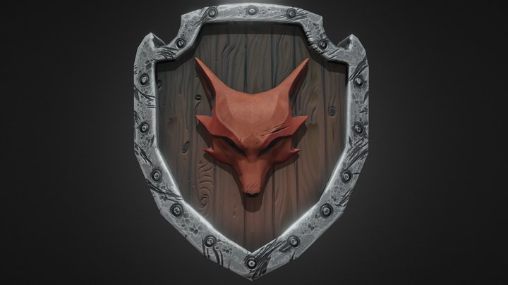 Fox shield 3D Model
