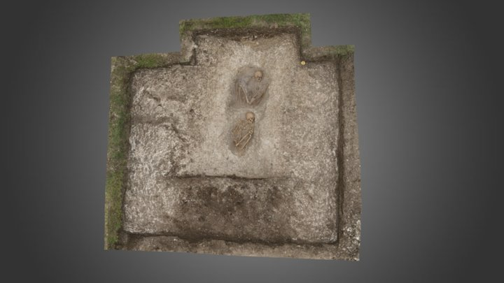Middle Bronze Age burials SE of Stonehenge 3D Model
