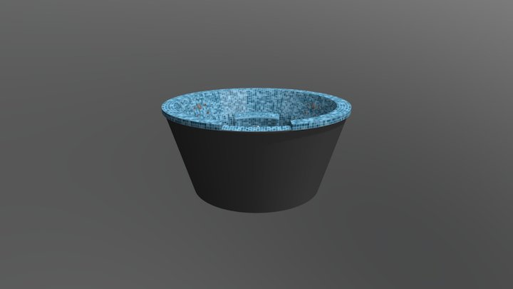 Caesar pool with a waterfall 3D Model