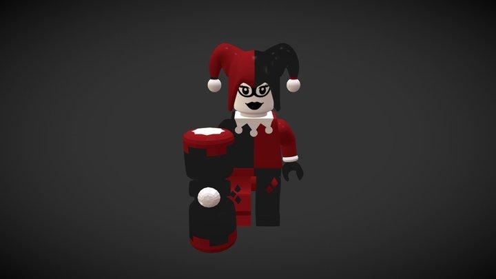 Legoman part 1: Harley Quinn 3D Model
