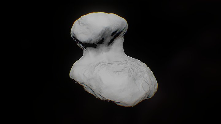 ESA Rosetta: Comet and Philae's landing site 3D Model
