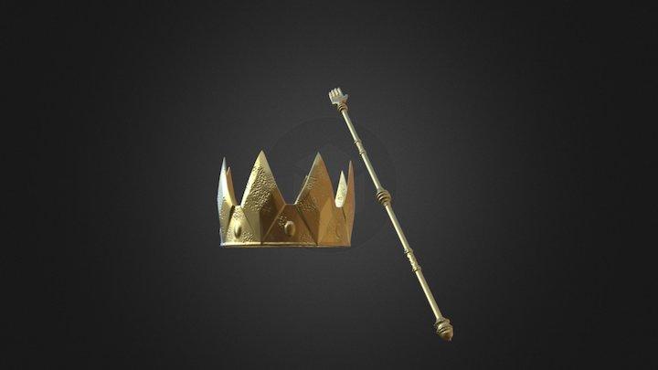 Vikings 3D Prophecy Episode 20 - Crown & Scepter 3D Model