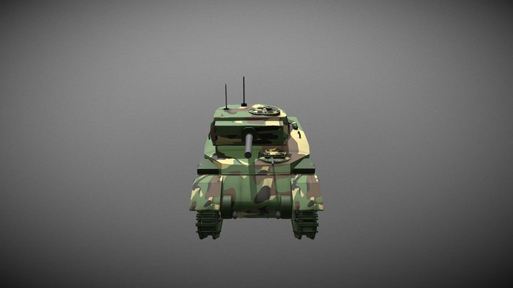 Tank RAM II Textured 3D Model