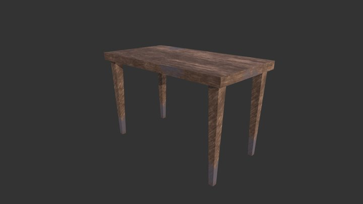 Dirty wooden Table 3D Model