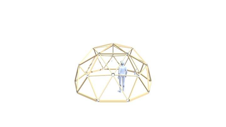 Frame for Wood Dome 3D Model