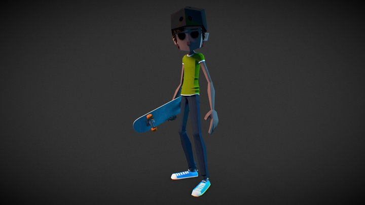 Ollie - Pocket Skate 3D Model
