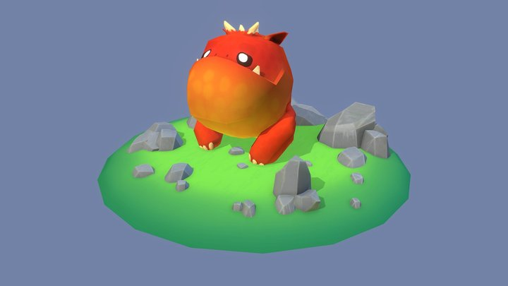 Monster Diorama 3D Model