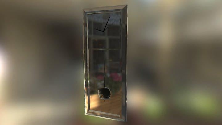 Mirror Clock 3D Model