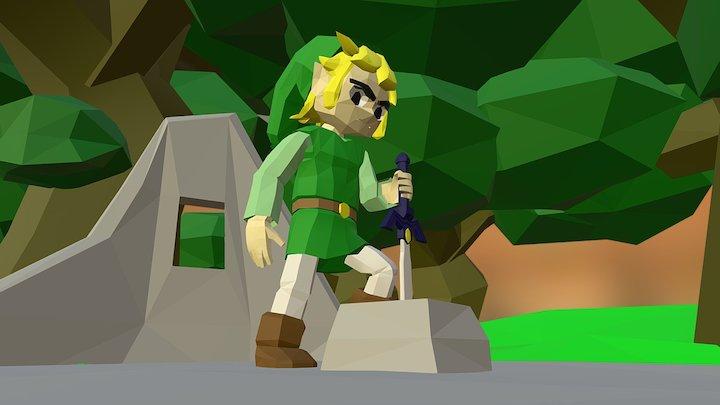 Link in Lost Woods 3D Model